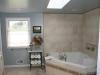 Corner tub with tile