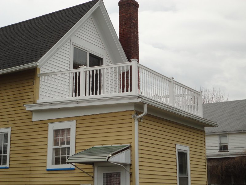 Railings on a roof.