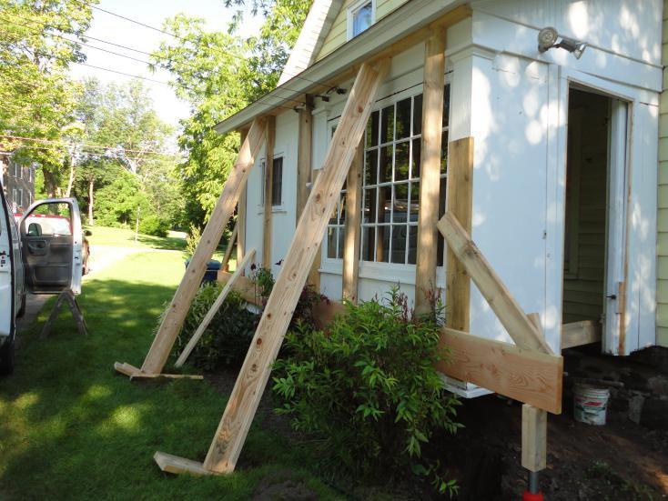 Sagging porch.
